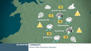 West Midland's weather map for Friday