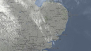 Cloudless skies at 1pm for much of East Anglia.