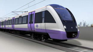 Computer generated image of how a Crossrail train may look