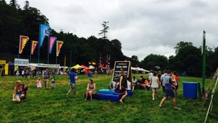 People start to arrive at the Somersault Festival in North Devon