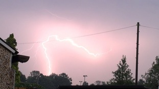 Lightning at Broomfield near Chelmsford