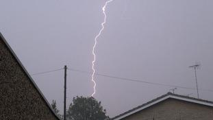 Lightning at Broomfield near Chelmsford