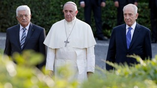 Pope Francis last month met with Mahmoud Abbas and Shimon Peres.