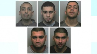 Umber Farrouq (21), Anees Hanif (20), Matab Ali (21), Junaid Ali (20) and Ameer Arshad (19) were found guilty after a two-week trial at Stafford Crown Court in May.