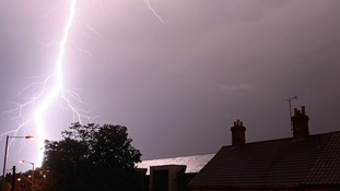 Jamie Bellinger captured an image of a lightning strike in Chippenham, Wiltshere.
