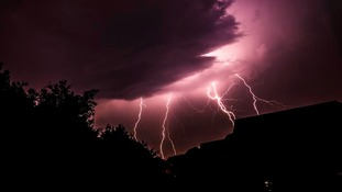 Lightening in Royton in Oldham