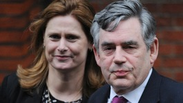 Former Prime Minister Gordon Brown and his wife Sarah arrive at the Royal Courts of Justice, London, to attend the Leveson Inquiry.