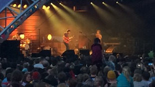 Huge crowds turned out to watch headliner Jack Johnson