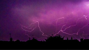 The lightning storms over Caistor-on-Sea near Gt Yarmouth, Norfolk