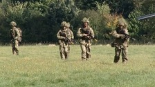 soliders from the 2nd Battalion, the Royal Anglian Regiment