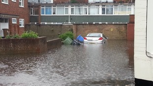 Flooding in Hall Road, Norwich