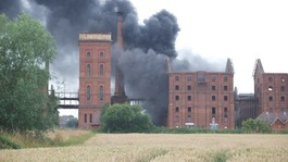 Fire at Sleaford Bass Maltings buildings