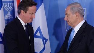 Prime Minister David Cameron (left) and Israeli Prime Minister Benjamin Netanyahu