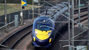 A high speed train using HS1, the Channel Tunnel.