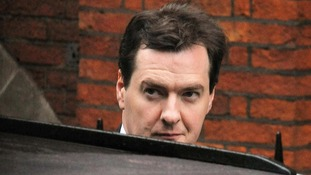 Chancellor George Osborne arrives at the Leveson Inquiry
