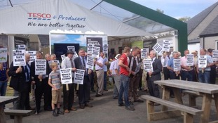 Farmers Royal Welsh protest