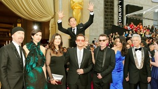 Benedict Cumberbatch famously photobombed U2 on the Oscars red carpet.