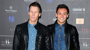 Tom Daley with his partner Dustin Lance Black