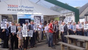 Tesco RWS protest