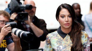 Tulisa Contostavlos hugged supporters after her trial collapsed.