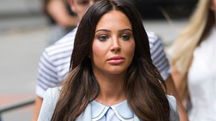 Tulisa Contostavlos arriving in court today, before her case was thrown out
