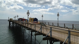 Photo of Teignmouth Pier which reopens today