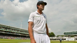 Alastair Cook stands alone on the Lord's pitch.