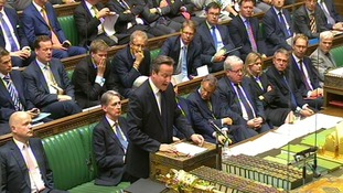 David Cameron speaking to the House of Commons.