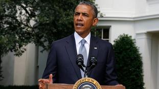 US President Barack Obama speaks about Ukraine at the White House in Washington,
