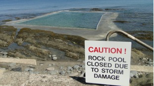 Tidal pool at Westward Ho will remain closed
