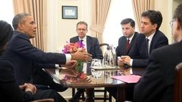 Ed Miliband meets President Obama at White House