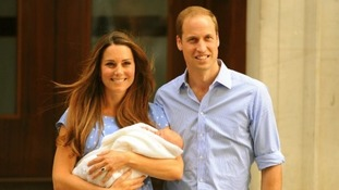 The first public glimpse of Prince George came as William and Kate left St Mary's Hospital following his birth on July 22, 2013.
