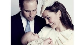 A family portrait capturing the connection between mother and child was also released at the time of his christening in October 2013