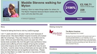 More than £2,000 has now been raised
