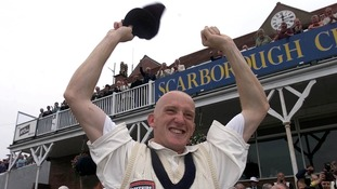Steve Kirby celebrates Yorkshire's win