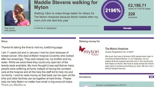 Maddie Stevens set out to raise £100