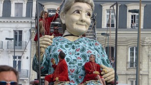 giant granny will sleep at St George's Hall from Wednesday