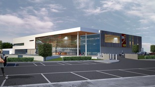 The new leisure centre, if approved, would look like this