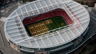 Aerial view of the Emirates Stadium