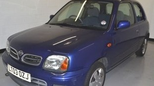 The blue coloured Nissan Micra was later recovered at the end of Stewart Street