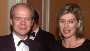 William Hague with Selina Scott in 1997
