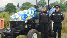 Police tractor unveiled at Royal Welsh Show
