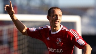 Paul Benson in action for previous club Swindon Town.