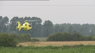 The Air Ambulance was called to the scene.