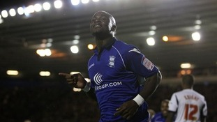 Lita celebrates scoring while on loan at Birmingham City.