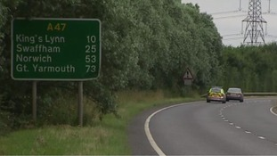 The pedestrians were killed on the A47 in Norfolk on Sunday.