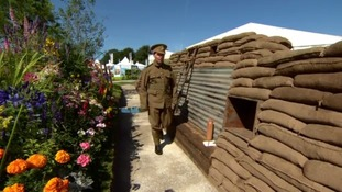 Soldiers at Tatton WW1 garden