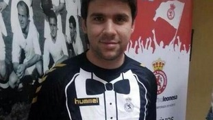 A Cultural Leonesa player models the eye-catching new strip.