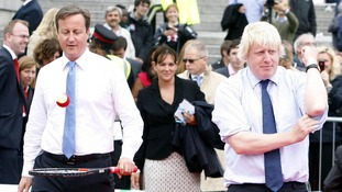 A doubles match with David Cameron and Boris Johnson attracted the bid.