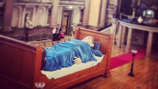 Grandmother giant asleep in St George's Hall